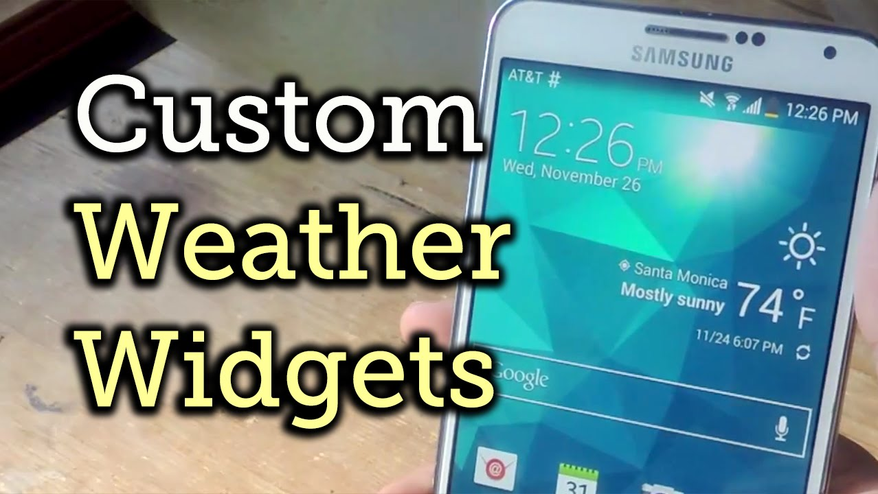 Make The Accuweather Widget Transparent On Your Galaxy Note 3 How