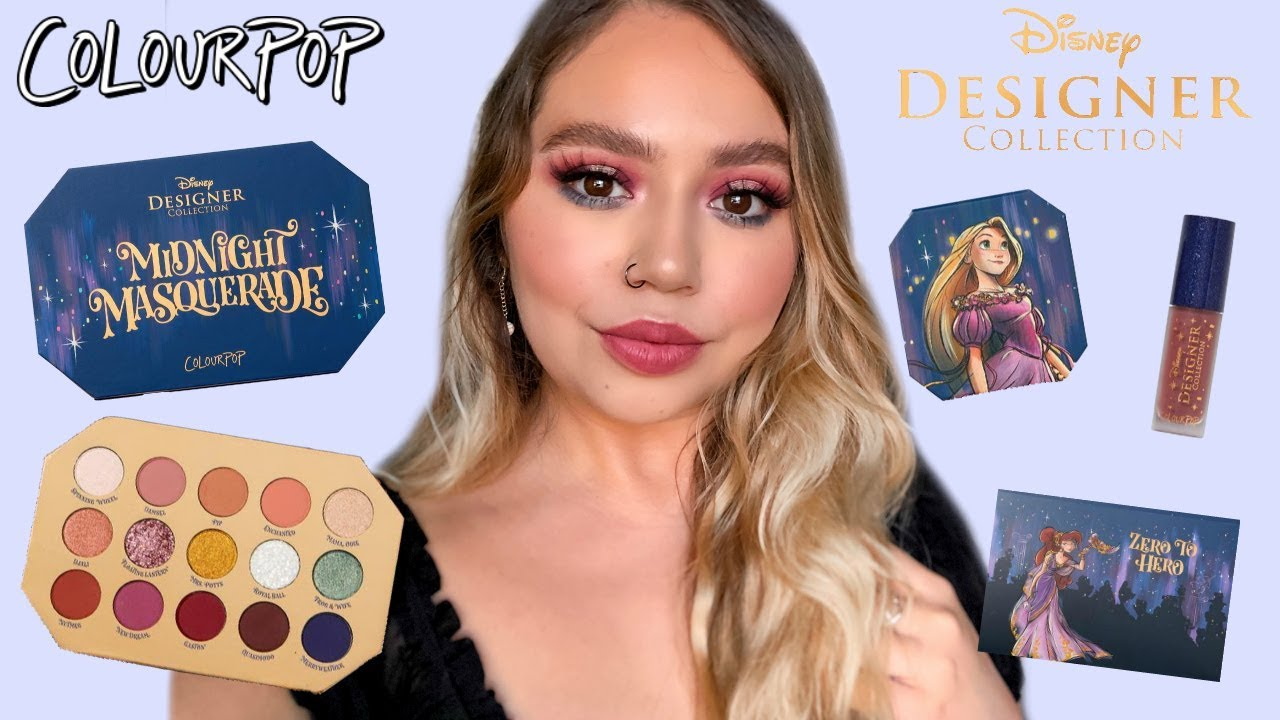 COLOURPOP DISNEY DESIGNER MIDNIGHT MASQUERADE | SWATCHES, REVIEW + ...
