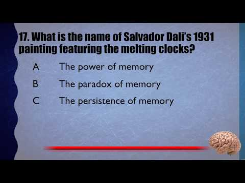 20 Trivia Questions No. 18 (General Knowledge)
