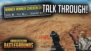 PUBG Xbox 15 KILL Win! FULL GAME TALK THROUGH!! (PUBG tips)
