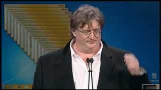 Gabe Newell Gets A Virus Mid-Presentation