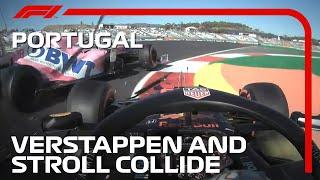 Verstappen And Stroll Collide In Practice | 2020 Portuguese Grand Prix