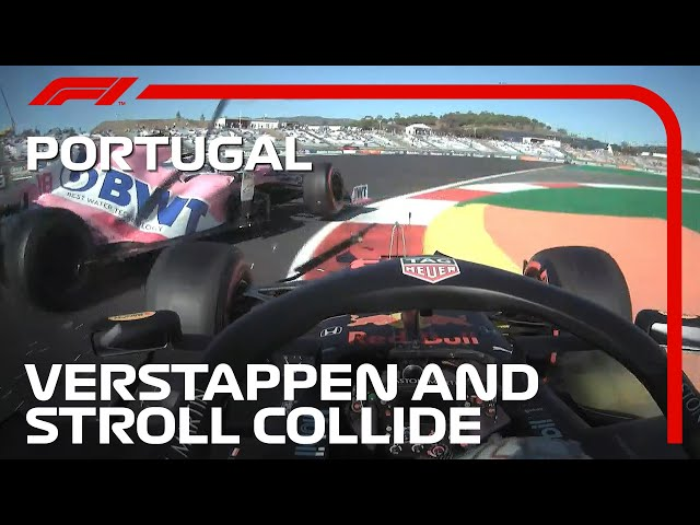 Verstappen And Stroll Collide In Practice | 2020 Portuguese Grand Prix