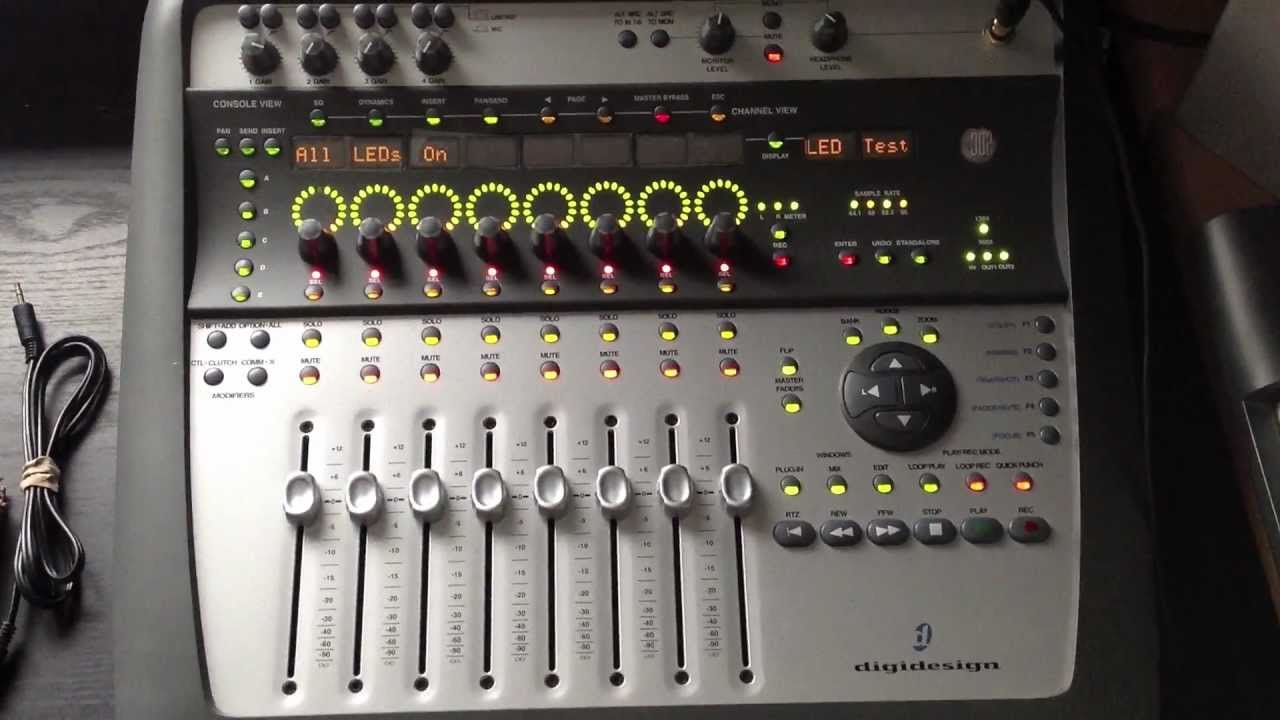 My digidesign 002 digital desk for pro tools mov youtube