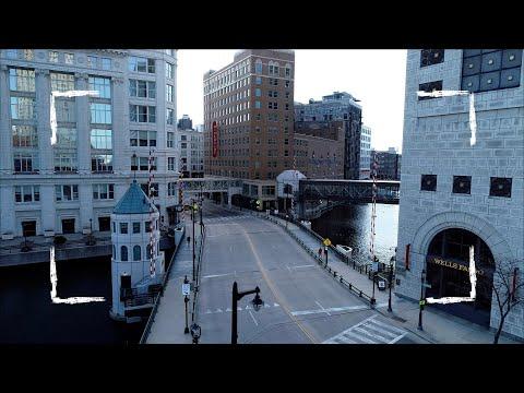 Milwaukee, Wisconsin Covid 19 Lockdown | 4K Drone Footage
