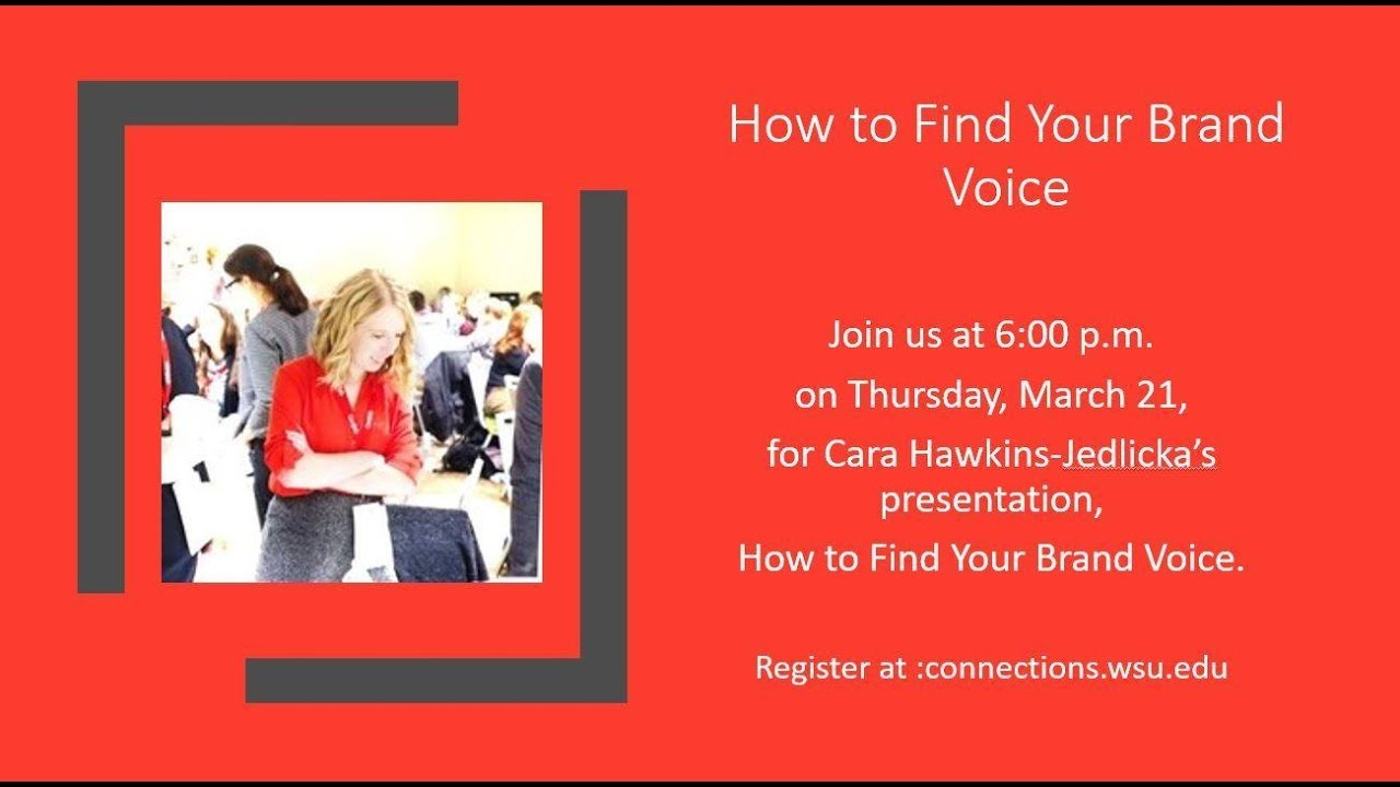 Image for WSU Global: How to Find Your Brand Voice webinar