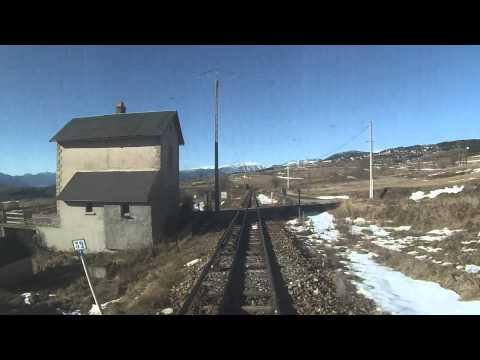 Trajet du petit train jaune en Languedoc Roussillon