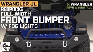 Jeep Wrangler JL RedRock 4x4 Full Width Front Bumper w/ Halogen Fog Lights Review & Install