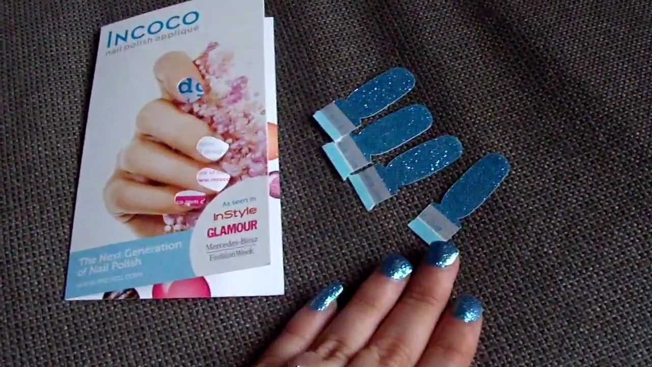 Incoco Nail Polish Applique Review - YouTube