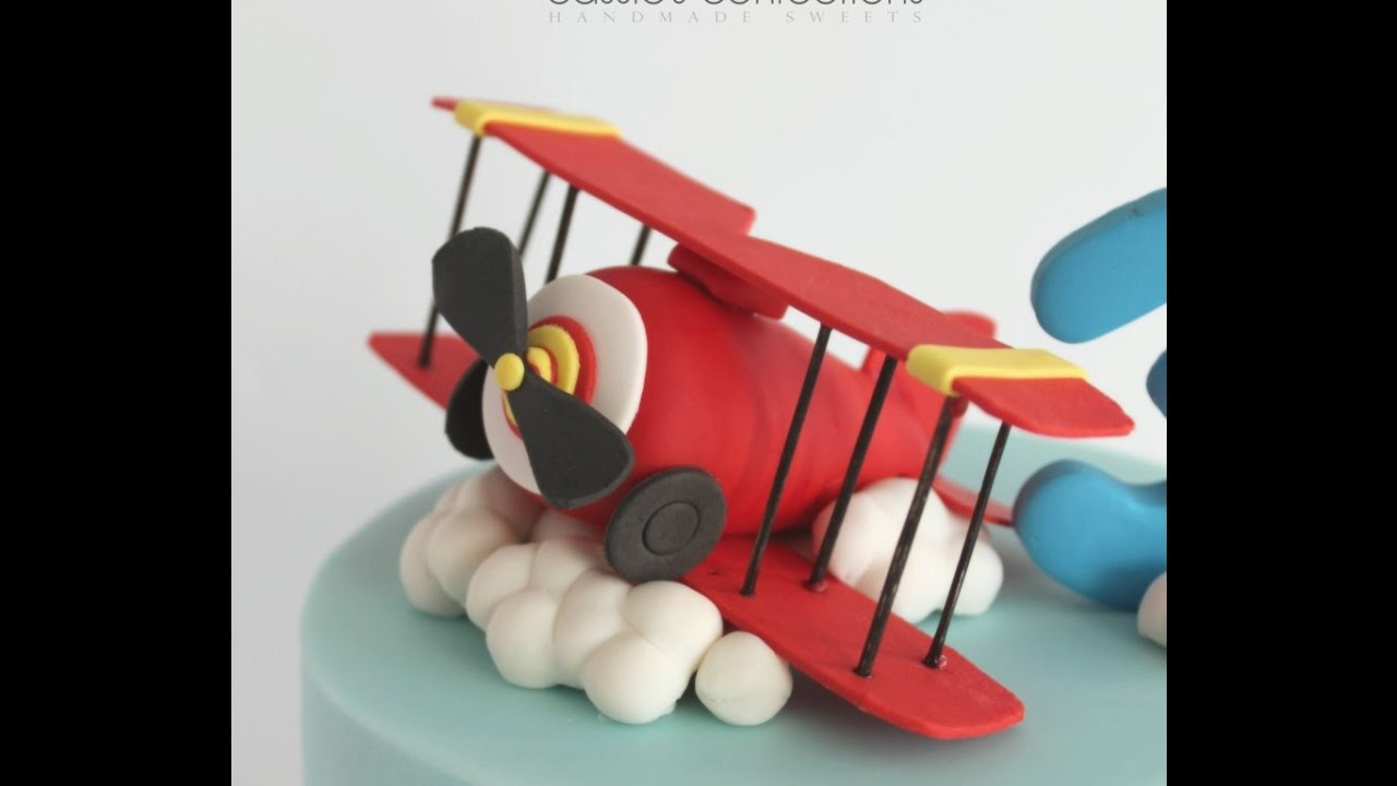 Vintage Airplane Cake Topper - YouTube