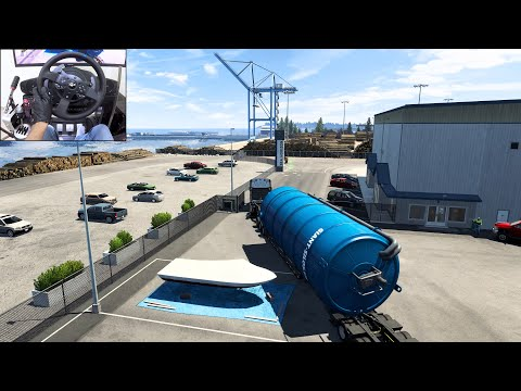 Freightliner Cascadia - Transporting a Giant Silo - American Truck Simulator   Thrustmaster T300RS  