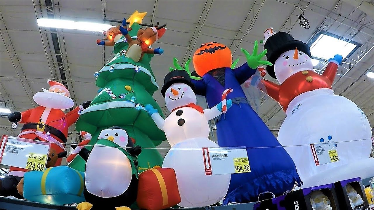4K CHRISTMAS SECTION AT BJ'S WHOLESALE CLUB - Christmas Shopping Trees Decorations Ornaments