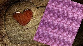 Узор спицами Польская резинка. Knitting pattern Polish gum