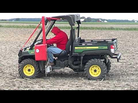 Magitec electric soil sampler in the field.