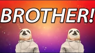 HAPPY BIRTHDAY BROTHER! - SLOTH HAPPY BIRTHDAY RAP