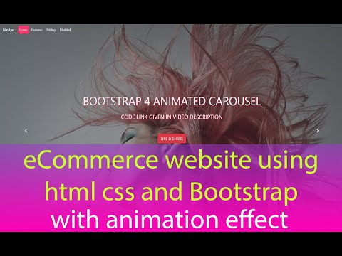 ECommerce Website Using HTML CSS And Bootstrap | ECommerce Website Bootstrap | Bootstrap 4 Ecommerce