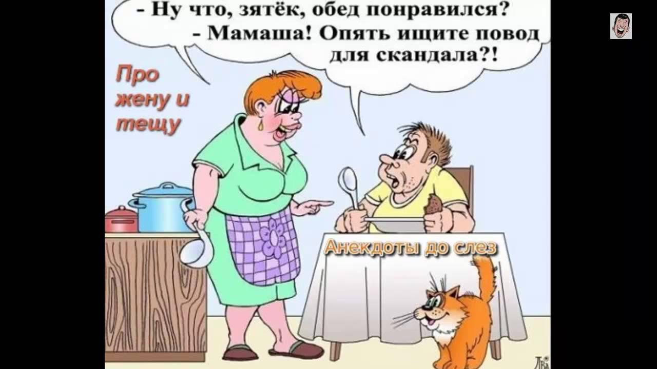 Про тещу и Про жену. Смешные Анекдоты - 2 - YouTube
