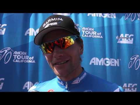 David Zabriskie speaks after winning stage 5 of the 2012 Amgen Tour of California