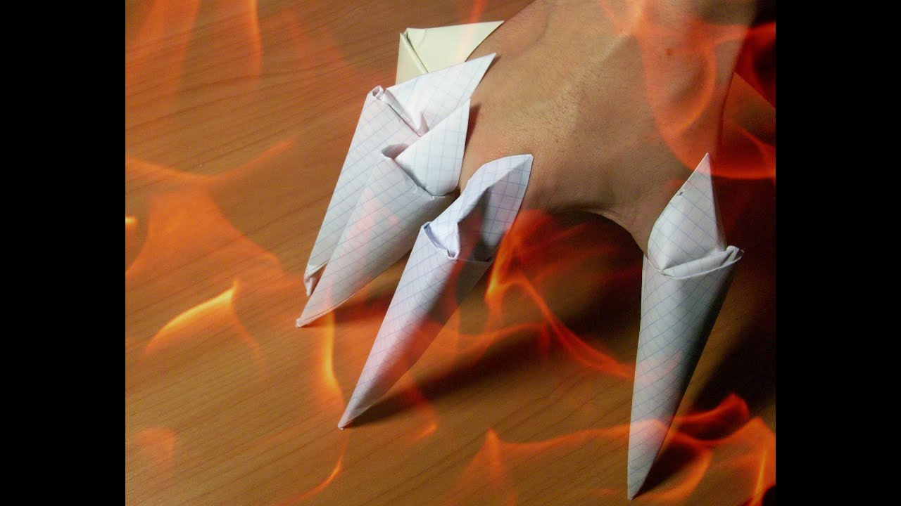 DIY Halloween Crafts How To Make Paper Claws Easy Origami For Beginners
