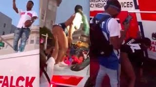 Hyper-Sexual Mob Twerks on Ambulance after Deadly Mass Shooting on Juneteenth