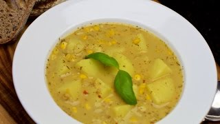 Lemon Spiked Potato And Corn Soup Recipe - Yum!