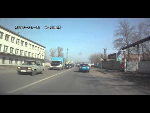Пробка в Серпухове после ж/д переезда