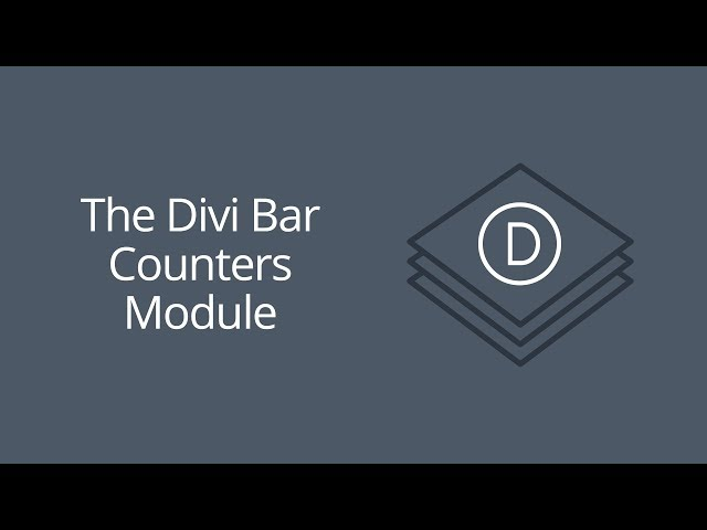 The Divi Bar Counters Module