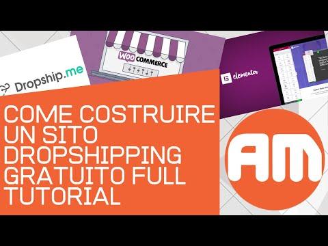Come costruire un sito Dropshipping gratuito - Full tutorial thumbnail
