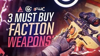Destiny 2: top 3 must buy faction rally weapons | best pvp faction weapons!