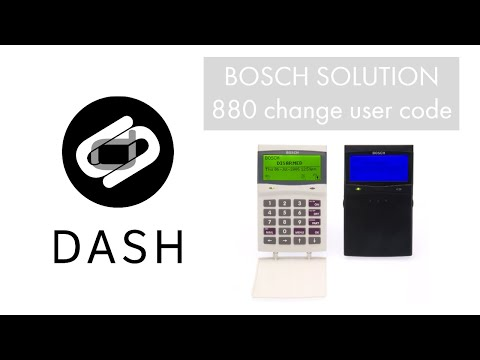 change a user code bosch solution 880 youtube. Black Bedroom Furniture Sets. Home Design Ideas