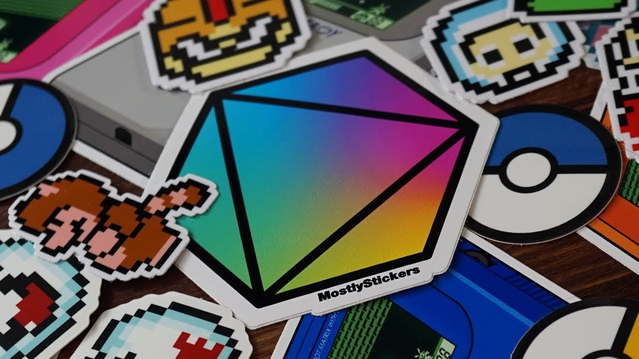 Unboxing my care package of Nintendo stickers from Mostly Stickers
