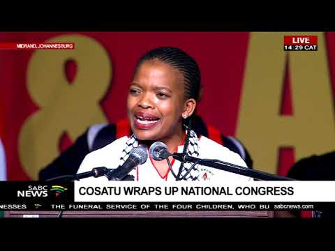 Zingiswa Losi closes the 13th Cosatu National Congress