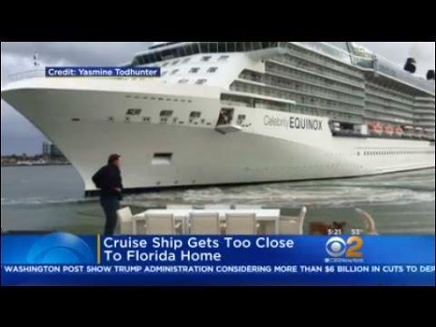 Cruise Ship Gets Too Close To Florida Home