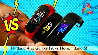 Mi Band 4 vs Galaxy Fit vs Honor Band 5 - 3 Month Review & Comparison!