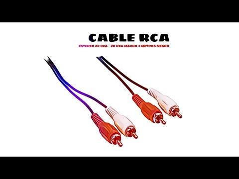 Video de Cable de audio estereo 2x RCA - 2x RCA macho 3 M Negro