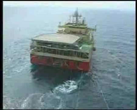 How to find oil in the sea-seismic test