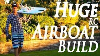 Huge Foam RC Airboat Build Vlog 1 - RCLifeOn