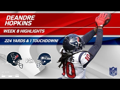 DeAndre Hopkins' Huge Game w/ 224 Yards & 1 TD! | Texans vs. Seahawks | Wk 8 Player Highlights