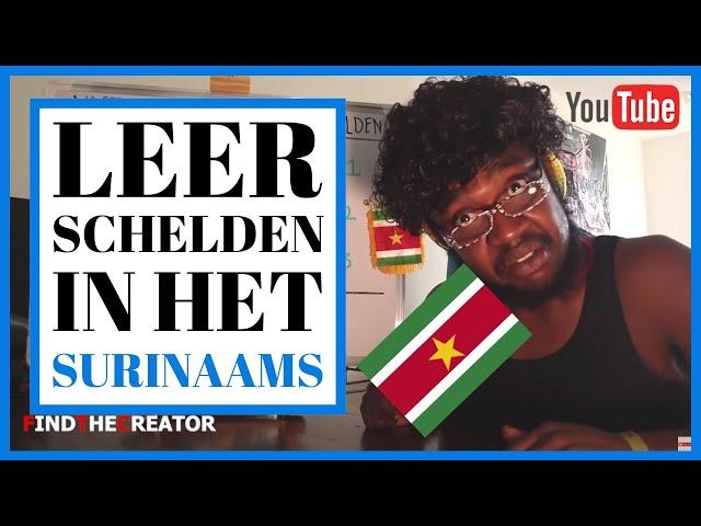 Leer schelden in het Surinaams met oom Kra (uit Suriname)!