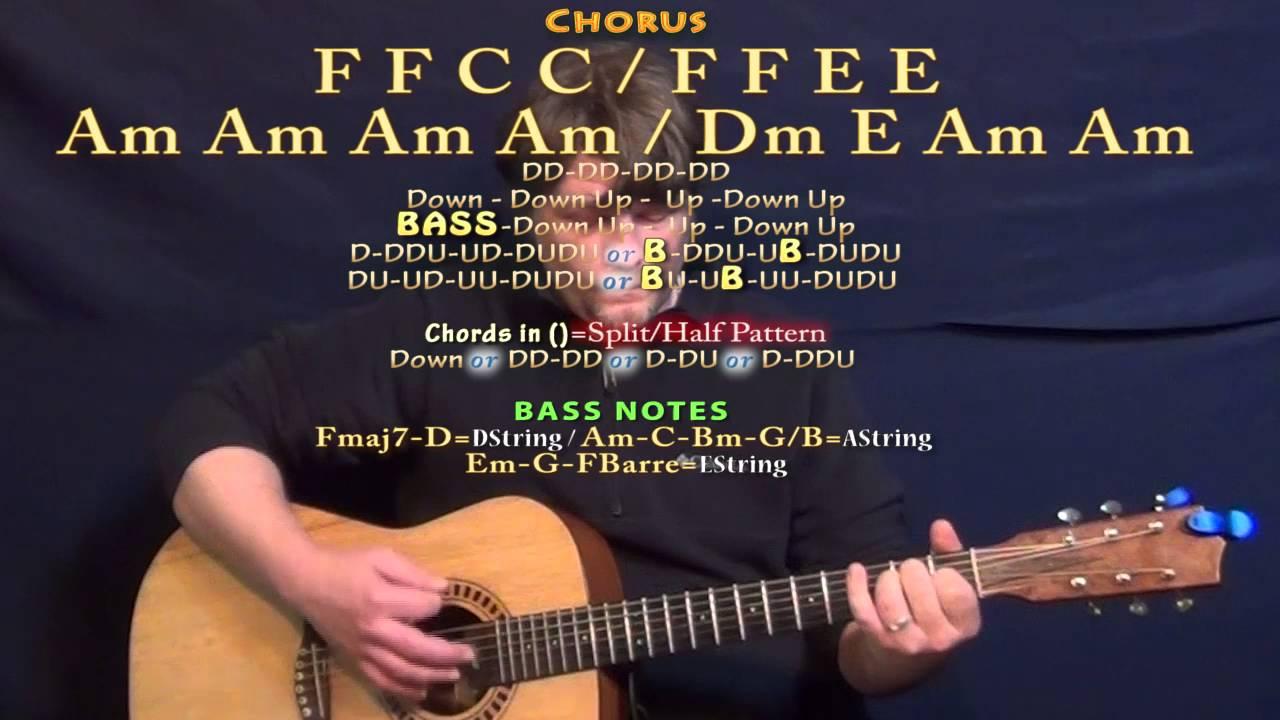 Wayfaring Stranger Johnny Cash Guitar Lesson Chord Chart Youtube