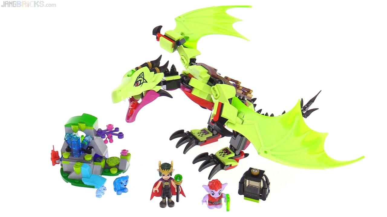 Ausmalbilder Lego Elves Drachen: LEGO Elves The Goblin King's Evil Dragon Review 🐲 41183