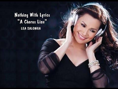 LEA SALONGA-  Nothing ( A Chorus Line ) With Lyrics