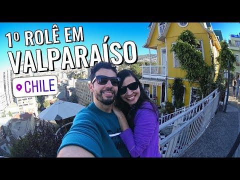 Vlog de viagem em Valparaíso Chile: passeio a pé, almoço, mirante, metrô e compras