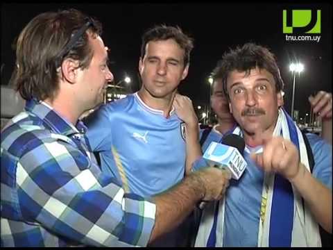 #TNUMundial Hinchas uruguayos luego del partido contra Costa Rica