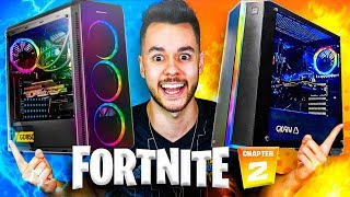 ASÍ JUEGO A FORTNITE CON 2 PCs *SET-UP EXTREMO* - TheGrefg