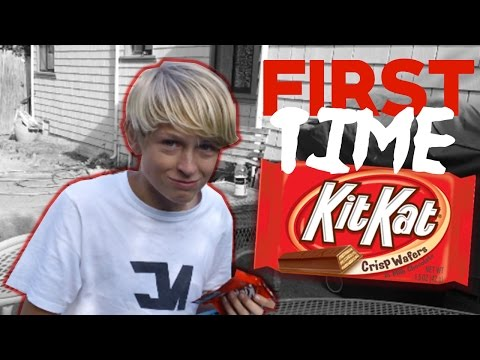 First Time Eating A KitKat