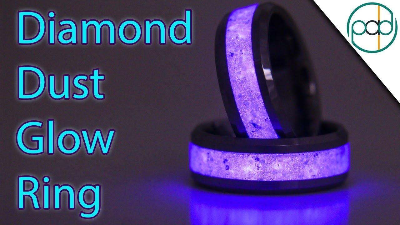 Making a Diamond Dust Glow Ring - YouTube