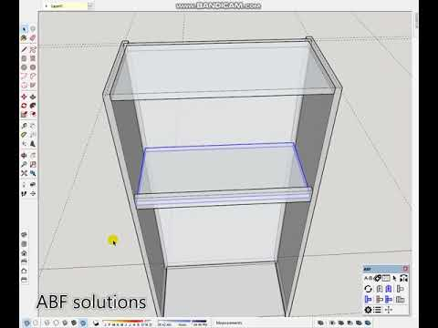 SkethUp tutorial Kitchen Basic- Vẽ Tủ Bếp cơ bản- Sản Xuất