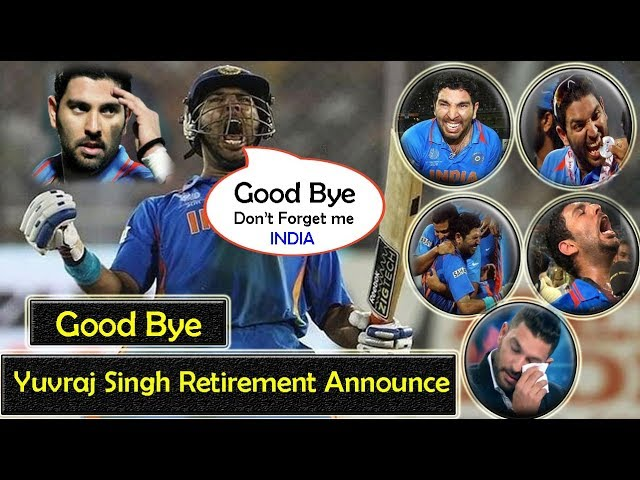 Yuvraj Singh Bids Farewell To International Cricket