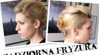 ♛ ZADZIORNA PROSTA FRYZURA IROKEZ / EDGY UPDO FAUX MOHAWK stylizacje ♛